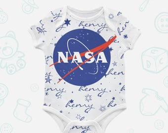 Nasa Logo Organic bodysuit Organic baby clothes Nasa gift Trendy baby clothes Infant suit Romper suit Newborn suit Organic cotton Nasa 019