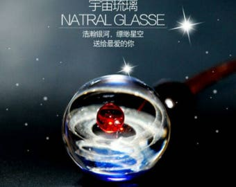 Creative glass globe,Glass Marble, Fumed Cosmic Galaxy,  Space Junk , Marble glass