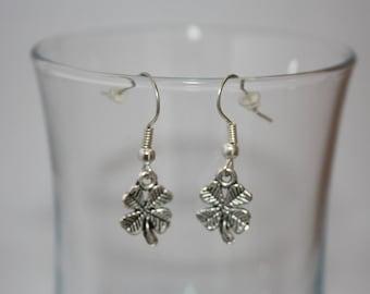 Fancy 4 leaf clover earrings