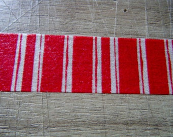 Washi tape with red and white stripes