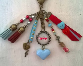 "bag charm or Keyring ""love"" theme"