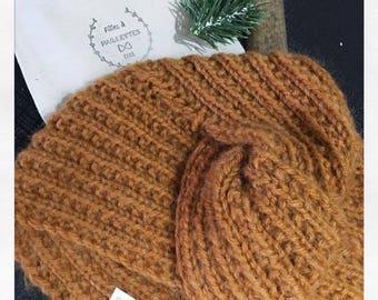 Bonnet turban Constance caramel