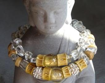 Stretch Bracelet, quartz, rock crystal, Crystal healing, for her, bracelet bracelet gift.