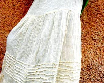 Mexican skirt,mexican cotton gauze skirt