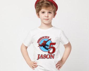 Spider-Man Birthday Shirt, Spider-Man Custom Shirt,Personalized Spider-Man shirts,Spider-Man family shirts, Spider-Man Birthday t-shirts