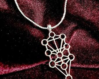 Sephiroth / Qliphoth Necklace - occult Qabalah kabbalah kabalistic tree of life qlipothic tree of death