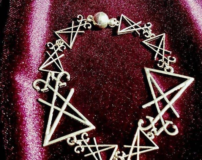 Luciferian Bracelet - lucifer sigiloflucifer baphomet occult gothic baphomet witch blackmagic lefthandpath altar ritual