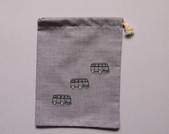 pouch for storing car keys or small accessories patterns vw combi