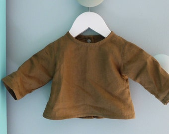 Shirt blouse linen nut size newborn to 3 months baby