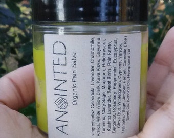Hemp Pain Salve 3.5oz Herb Pain Salve Nerve Pain Relief Muscle Arthritis Inflammation Arnica Marjoram Wintergreen Lavender