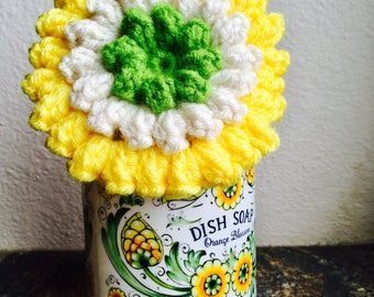 Scrubbies Crochet Scrubber Dish Scrubber Pot Scrubber Eco Friendly Tawashi Scrubbers Handmade Cleaning Sponge for Bathroom and kitchen