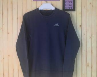 Vintage Adidas Sweatshirt With Small Logo Front Shirt Blue Colour Size S Adidas Nike Windbreaker