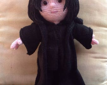 KNIT/CROCHET pdf tutorial/pattern: Professor Snape from Harry Potter