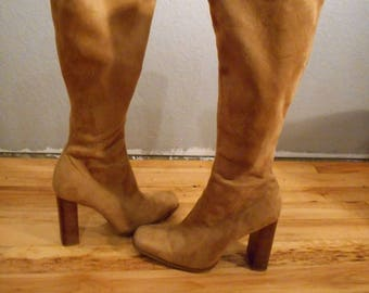 90s Bongo Boots Knee High Faux Suede Boots size 7