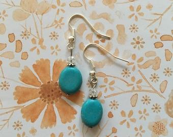 Delicate turquoise earrings