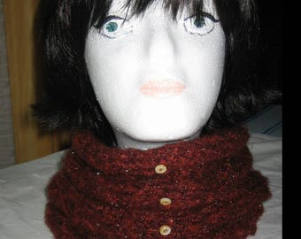 Snood soft and warm mohair iridescent