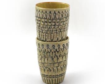 Wollaton White Stoneware cups