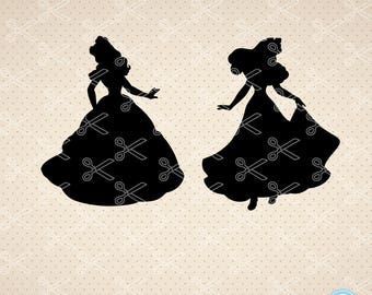 Disney SVG  PNG  DXF  Eps Cutting Files Cinderella  Svg disney princess svg files for cricut & Silhouette Cut Files Clipart vector files