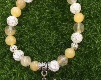 Self-esteem in semi-precious stones bracelet