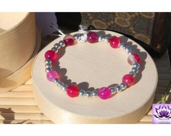 Agate set bracelet earrings