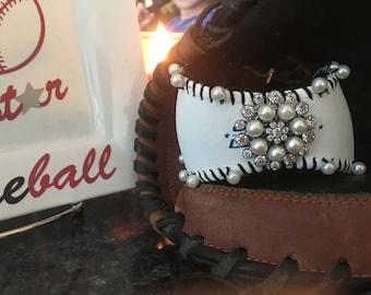 Pearl baseball bracelet