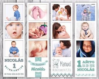 Bookmarks for books ideal souvenir, birthdays, weddings, baptisms, communion.