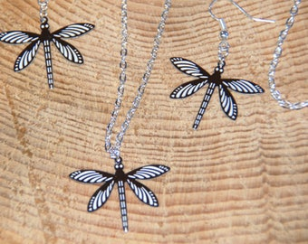 Dragonfly Jewellery, Dragonfly Necklace, Dragonfly Earrings, Dragonfly Necklace and Earrings, Gift for Her, Mothers Day Gift, Bridemaid