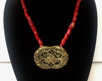Old Vienna Red Coral Necklace