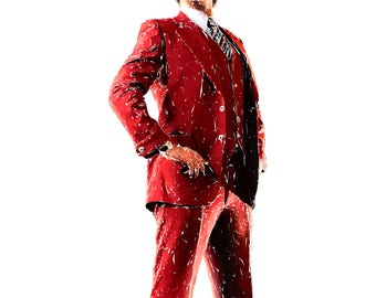 Ron Burgundy - Anchorman Movie Poster - 12x18 (FREE SHIPPING)