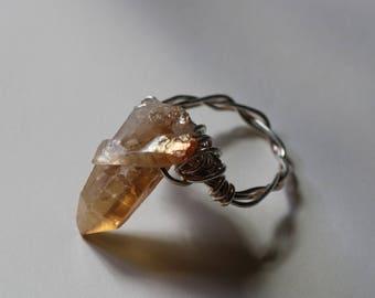 rose gold quartz ring