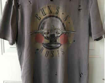Ripped Vintage Guns N Roses Shirt