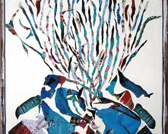 Painting / Contemporary Art / Mixed Media on Reclaimed Wood / Home Decor - Baiana