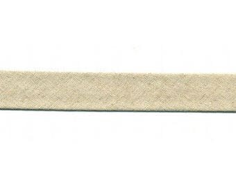 Linen and cotton Beige fabric