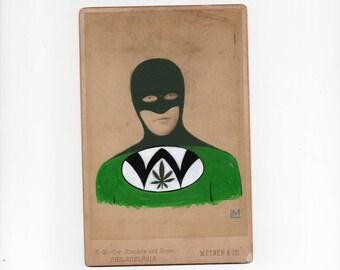 Superhero - Cannabis Inspired Cabinet Card