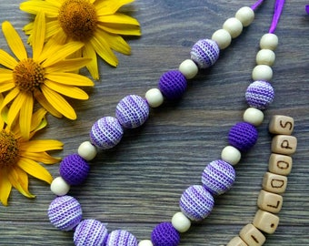 Nurcing necklace - Breastfeeding necklace - Baby shower gift - Organic teether