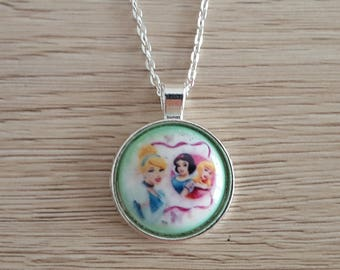 metal Disney Princesses kids necklace