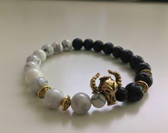Bull Skull Gold Style Bracelet