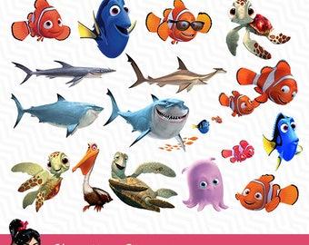 Finding nemo shirt etsy for Disney fish names