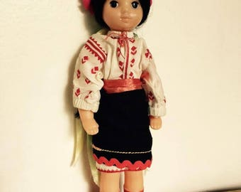 USSR Doll in traditional dress. 1970s