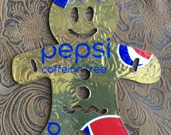 Gingerbread Girl - Pepsi Can Ornament