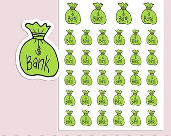BANK BAG | Planner Stickers  | Money | Savings | Banking | Erin Condren | S9