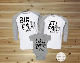 Personalized Family Shirts, Matching Shirt Set, Family Matching Shirts, Baseball, Matching Family Shirts, Big Fry, Little Fry, Small Fry
