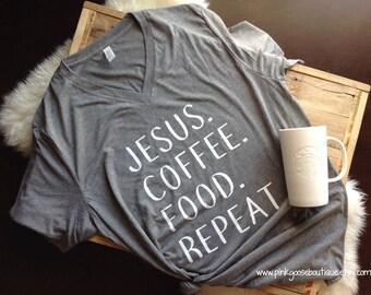 COFFEE SHIRT, coffee, coffee shirts, friend gift, christmas gift, Jesus shirt, shirt, coffee tee, mom gift, ladies tshirt, coffee tee shirt