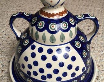 Polish Pottery Cheese Lady