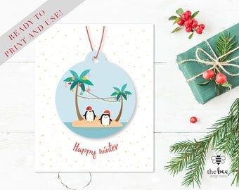 Summer Merry Christmas Card Printable