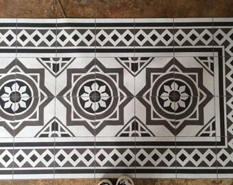 PVC tile carpet tile hydraulic vinyl linoleum interior design · Carpet tiles hidraulic vintage decor interior design