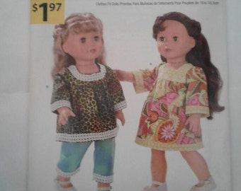 Simplicity Pattern A1230 Fits American Girl & other 18 inch dolls
