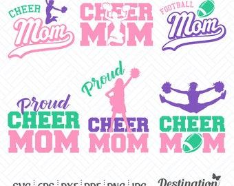 Cheer Mom SVG Files, Cheer Mom Cutting Files, Silhouette Files, Cricut Files, Vinyl, Digital Layered Vector, dxf eps png jpg pdf, D/003