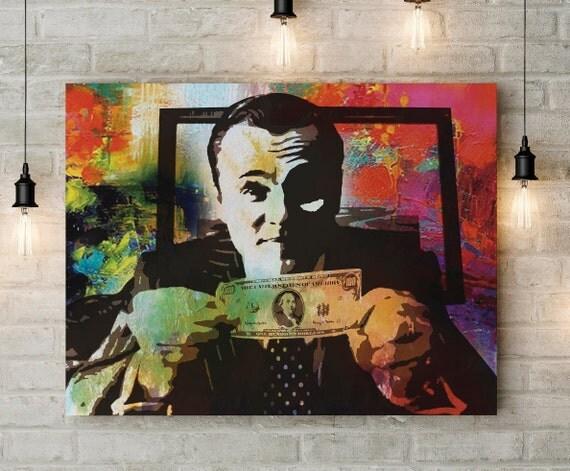 Leonardo Dicaprio Wolf Of Wall Street Canvas Art Money