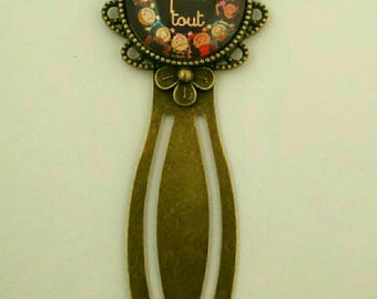"End of year gift bronze clip bookmark ""special school or teacher"""